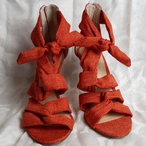 Vince Camuto orange sandals size 7